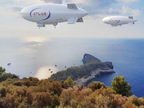 Luftskeppen från israeliska Atlas LTA drivs av vätgas.
