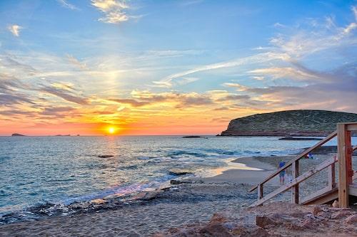 Cala Conta, i solnedgång, precis som Skorpionen älskar det.