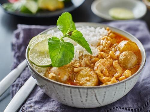 Massaman curry har den perfekta balansen av kryddigt och milt.