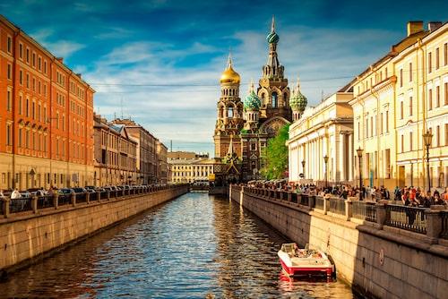 Frälsarens kyrka i Sankt Petersburg.