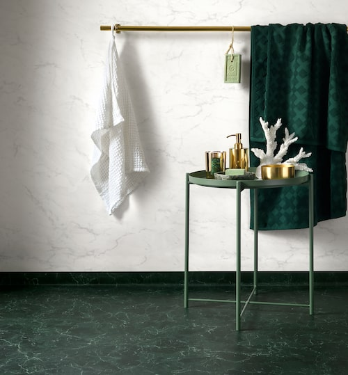 Smaragd. Aquarelle Royal Marble Green, Tarkett.