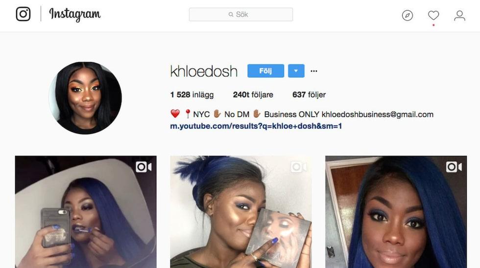 På Instagram inspirerar Khloe hundratusentals.