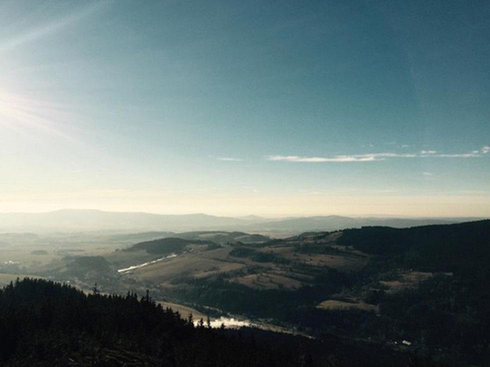 Utsikten från toppen är fantastisk.