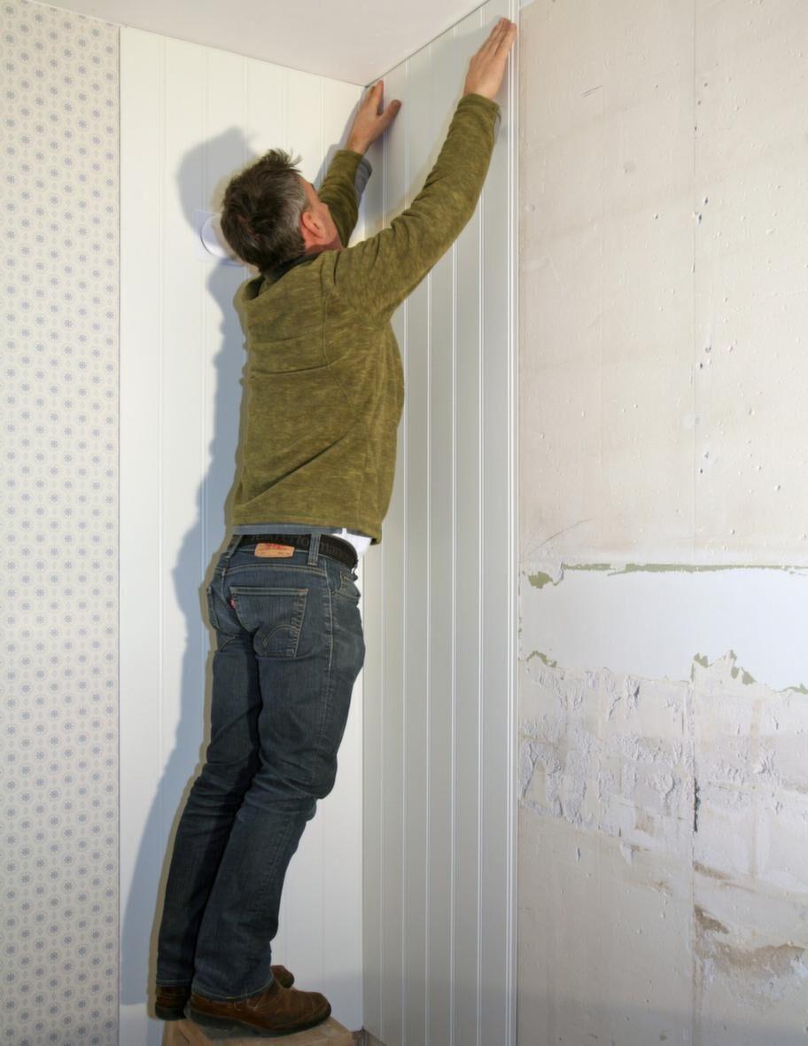 Ombonade väggar - smidig pärlspont med panelskivor.