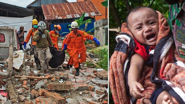 Dödssiffran stiger efter jordskalven i Indonesien