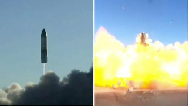 Här exploderar Elon Musk-raketen som ska kolonisera planeten Mars