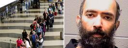 Han levde på amerikansk flygplats – i tre månader