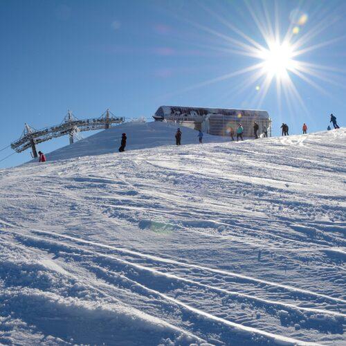 Wagrain ligger i de östra delarna av Alperna där bergen är lite lägre och inte så branta.