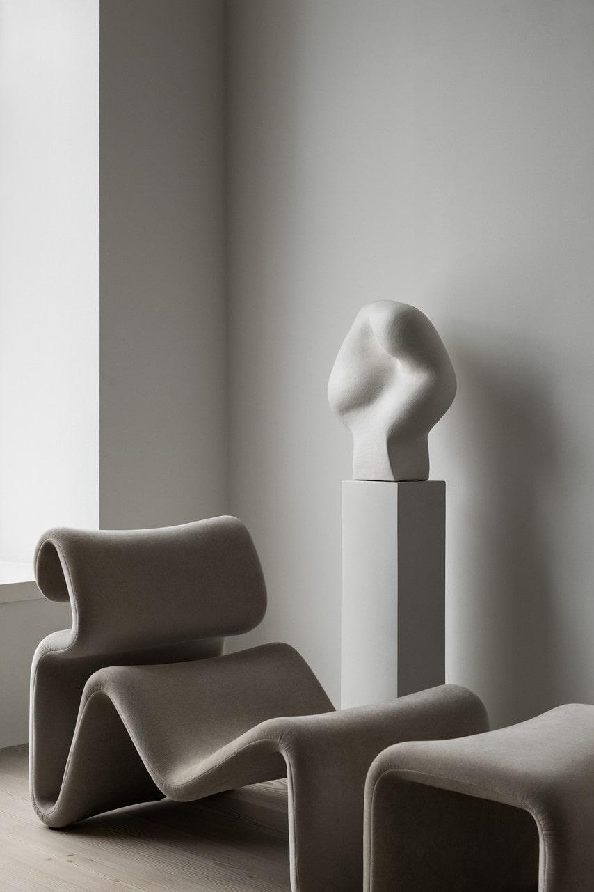 Loungefåtölj Etcetera med fotpall, 22 600 kronor, design Jan Ekselius, Artilleriet.