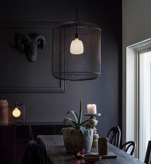 En riktad belysning, eller så kallad funktionsbelysning, använder du exempelvis över ett matbord. Grid, PR Home.