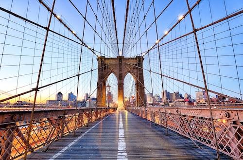 I många år efter att bron invigdes i maj 1883, var Brooklyn Bridges torn de högsta byggnadsverken i USA.