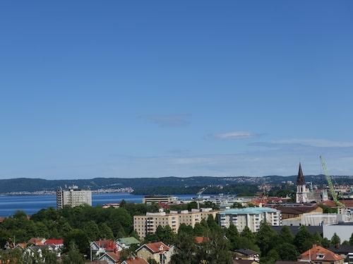 Jönköping sedd från Vättern.