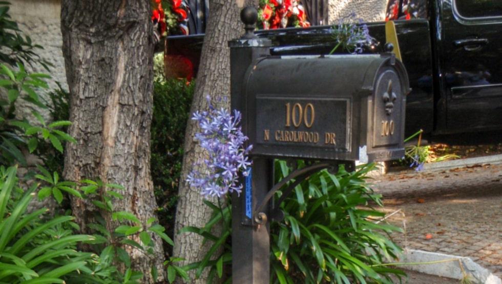 <p>Adressen där Michael Jackson hittades död</p>