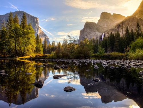 Yosemite National Park är känd för sina vattenfall och sitt rika djurliv.