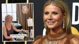 Gwyneth Paltrow hånad av sin dotter för morgonrutinen