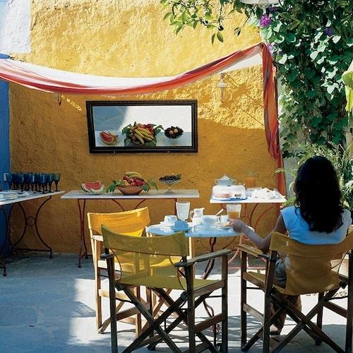 Marco Polo är ett sött boutiqehotell i hjärtat av de historiska delarna av Rhodos stad.