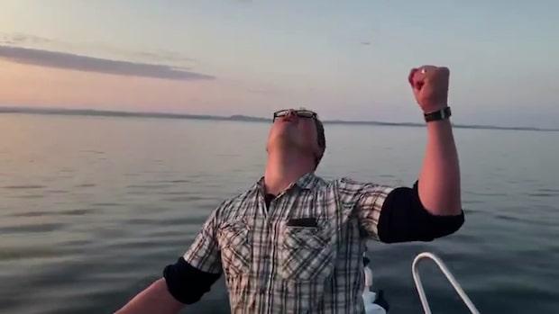 Johan och Gustav fångade Sveriges näst största haj
