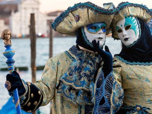 Karnevalen i Venedig äger rum i februari varje år (om det inte är coronatider).