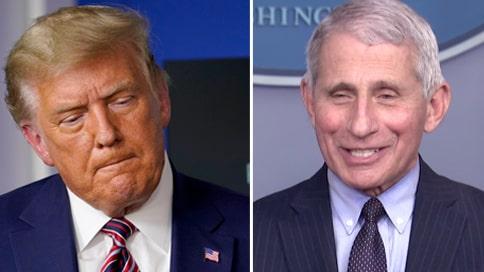 Frostiga relationen över – då skojar Fauci om Trump