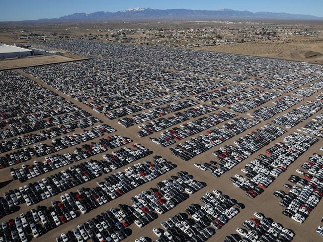 Enligt VW tas alla återköpta dieselbilar om hand för att vara i funktionsdugligt skick. Men hur lätt är det med 300 000 fordon i öknen?