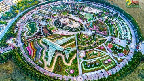 Dubai Miracle Garden innehåller 45 miljoner blommor.