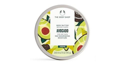 Vårdande kroppssmör med sheasmör och avokadoolja, The body shop Avocado body butter.