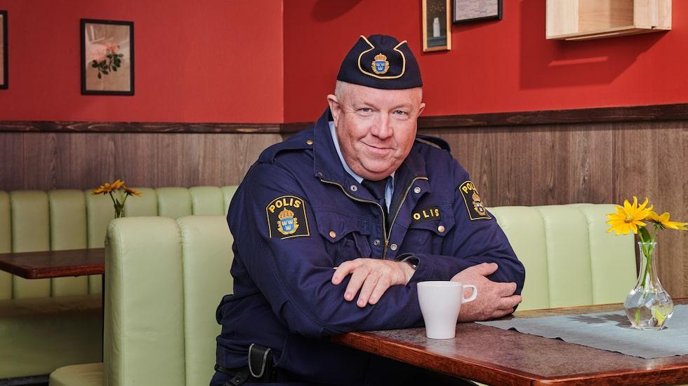 """Anders Jansson spelar polismästaren i andra säsongen av """"Lasse-Majas Detektivbyrå"""", som precis spelats in."""