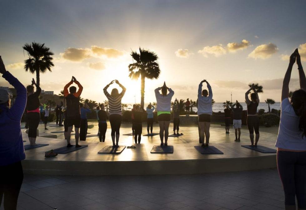Yoga på Playitas, Kanarieöarna.