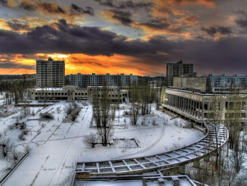 Pripyat, Ukraina. Ett prima exempel på den spöklika stämning som präglar hastigt övergivna platser.