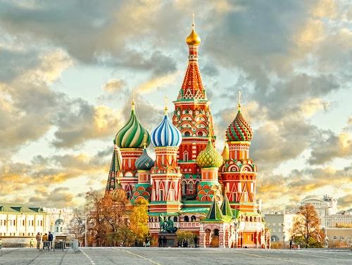 Vasilijkatedralen på Röda torget är en av Moskvas främsta sevärdheter.