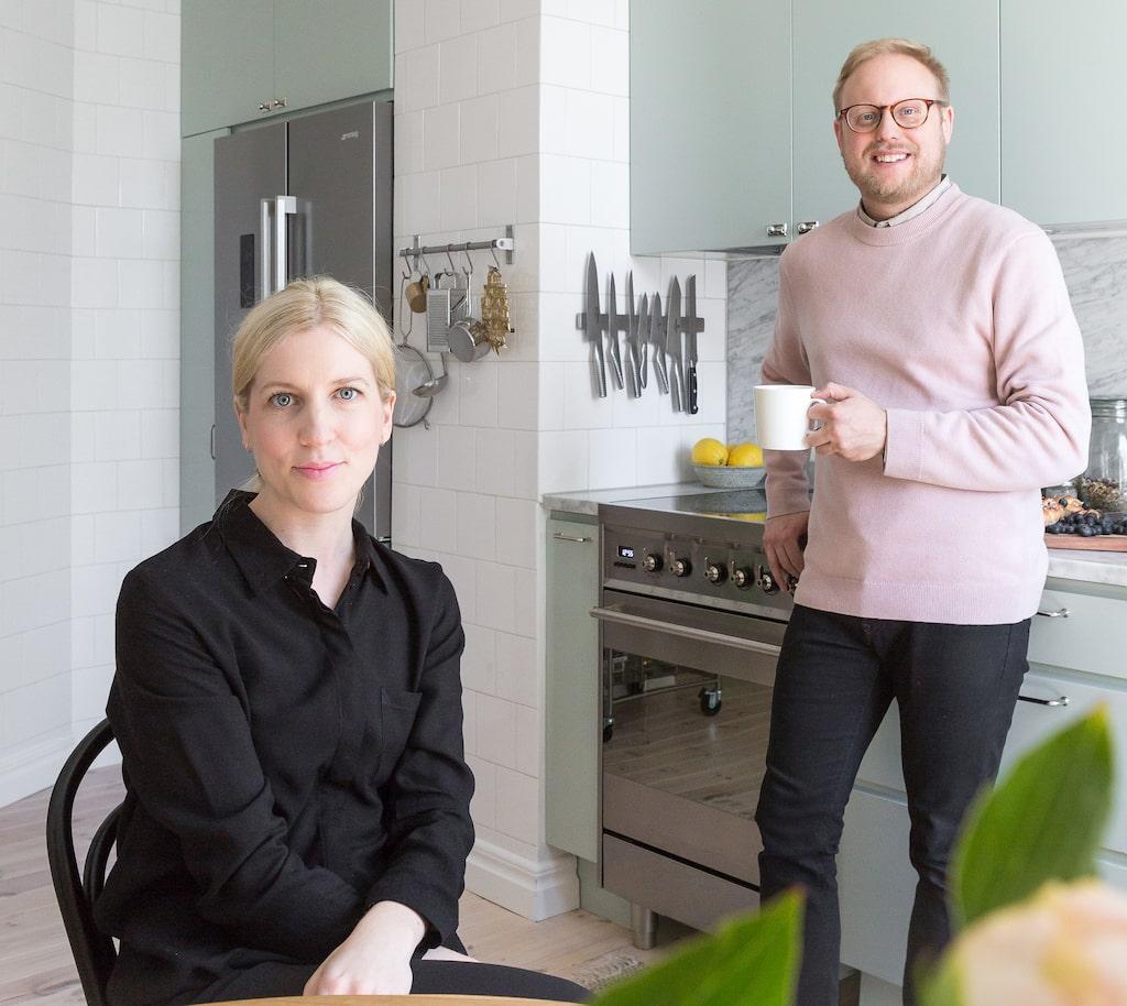 Louise och Daniel Westermark Gustafsson inreder lugnt och harmoniskt.