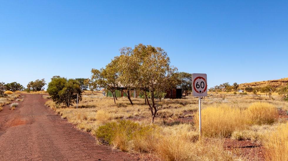 Spökstaden i västra Australien är byggd på en asbestgruva.