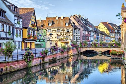 Kanalen i Colmar är kantad av Koifhus, korsvirkeshus från 1400-talet.