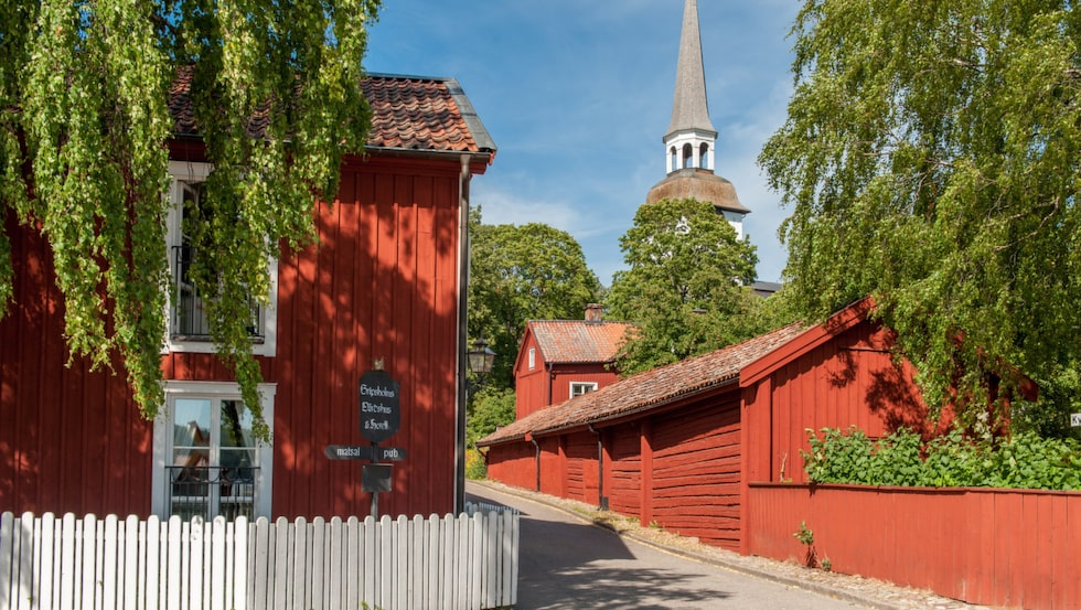 Vackra, mysiga Mariefred i Sörmland.