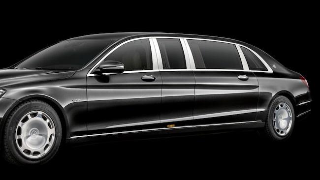 6,5 meter. Det innebär omkring 920 000 kronor per meter för denna Mercedes-Maybach Pullman.