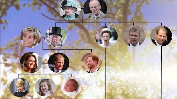 Tronföljden och kungafamiljen –här är brittiska kungahuset