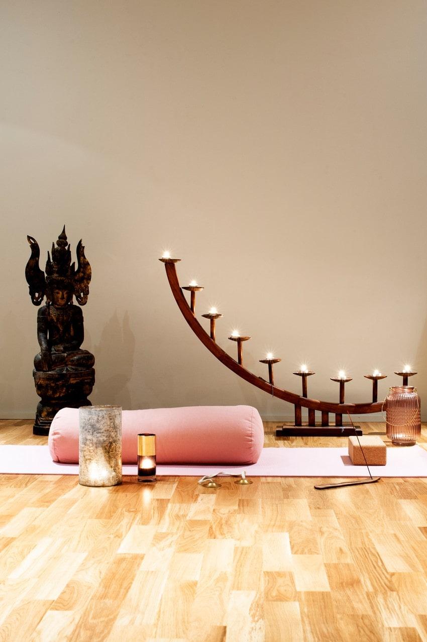 I huset finns även en yogastudio.