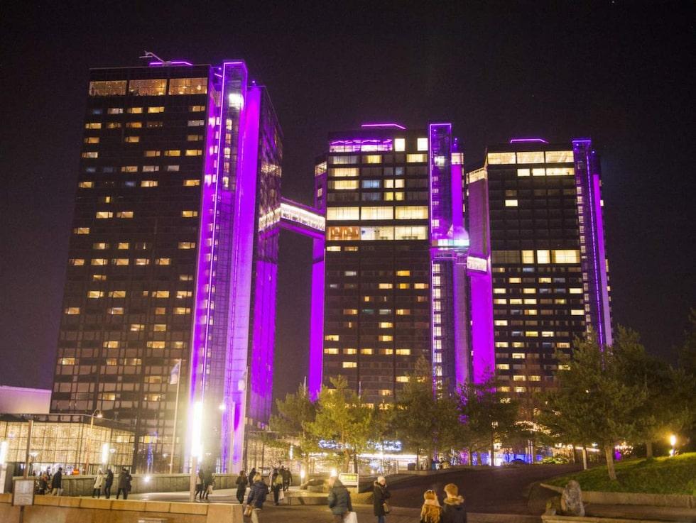 Även Gothia Towers har ett romantiskt specialpaket med mousserande vin och choklad.