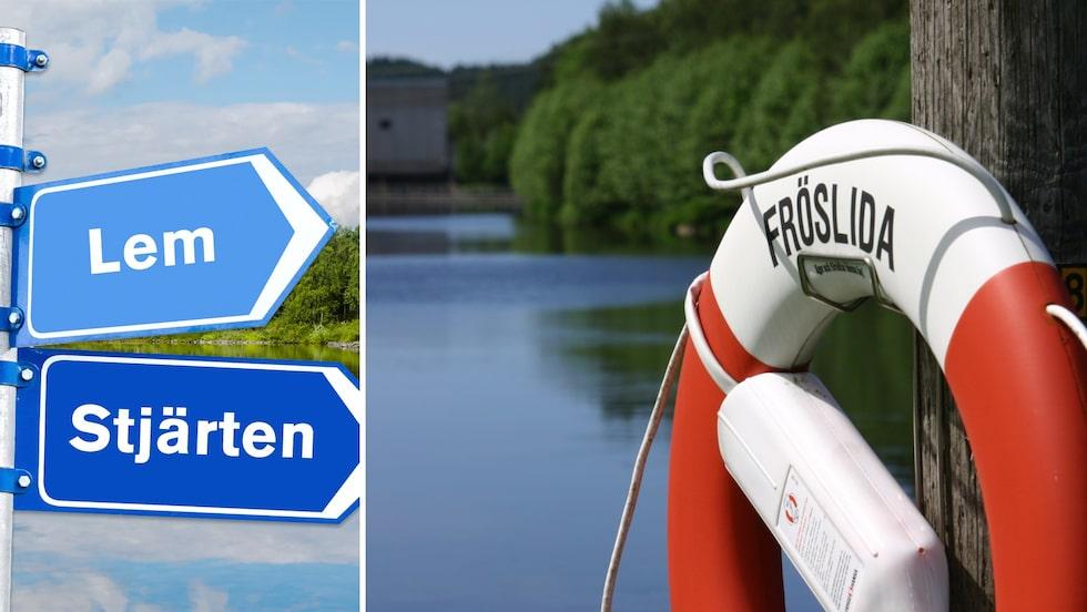 Lem ligger i Gästrikland, Stjärten i Orsa och Fröslida i Halland.
