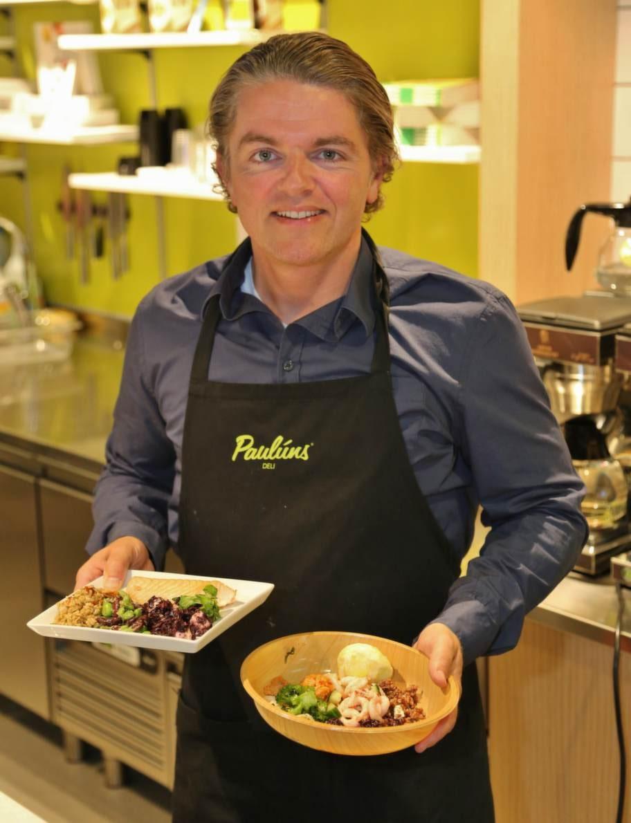 Delikedja. Näringsfysiologen och GI-experten Fredrik Paulún har öppnat Paulúns deli i Örebro där det serveras näringsriktig och läcker mat komponerad av matkreatören Jacob Wismar.