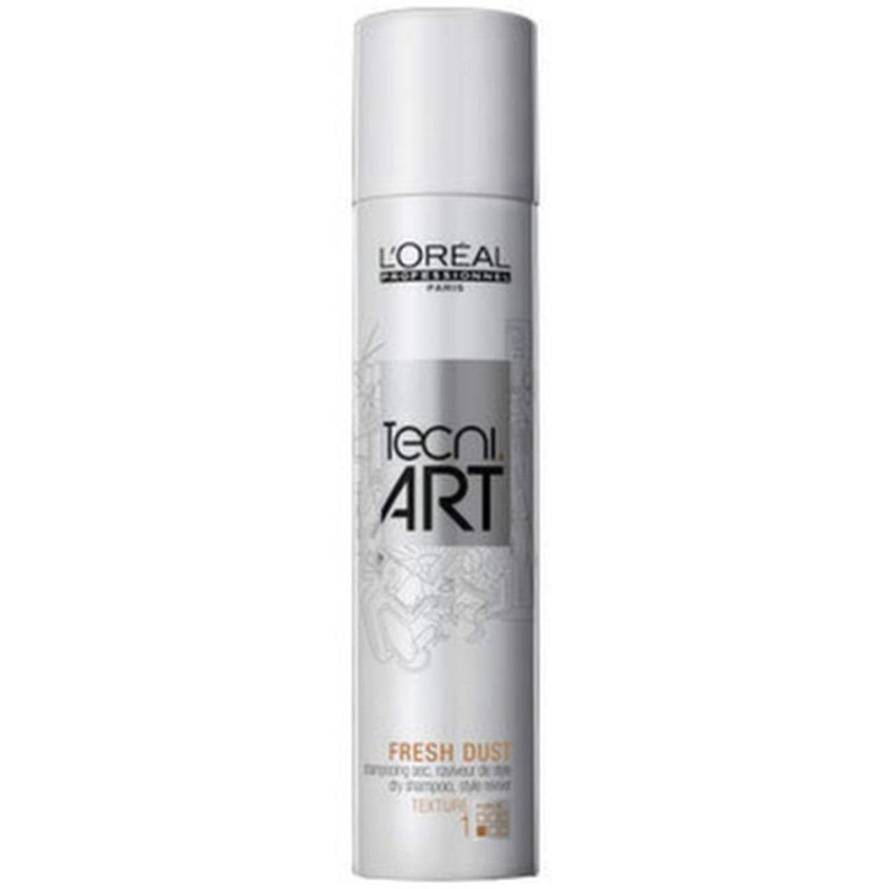 L'Oréal, TecNi Art Force 1 Fresh Dust , 150 ml, 195 kronorTorrschampo som absorberar upp oljan i hårbotten och återupplivar håret. Doftar fräscht, men kräver ganska mycket jobb och lämnar ett hår som ser ok ut – men fortfarande känns smutsigt och tungt.