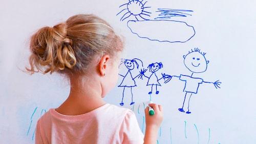 Tuschpenna på tapeten – varje förälders mardröm. Det bästa är att behandla det så fort som möjligt.