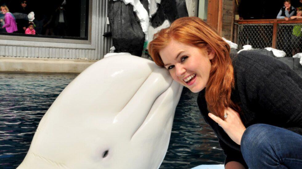 <p>Isla Fischer får komma in gratis på Twycross zoo den 19 augusti om hon vill.</p>