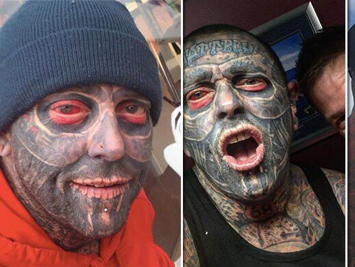 Han har varit arbetslös nästan hela livet – på grund av tatueringarna