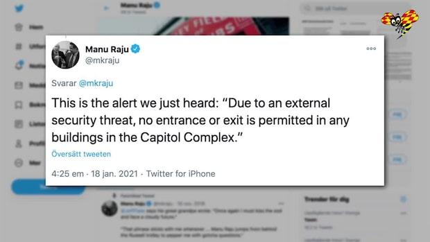 Larm utlöst i kongressen – uppmanar att undvika fönster