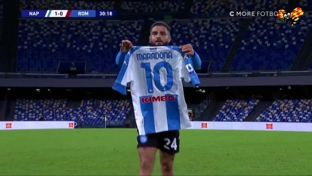 Lorenzo Insignes magiska frispark  – hyllar sedan Maradona