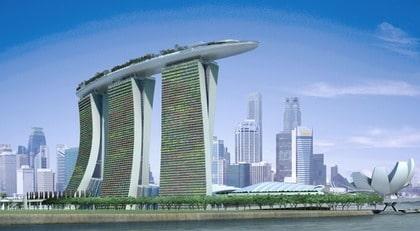 Monstercasinot Marina Bay Sands i Singapore har kostat 42 miljarder kronor att bygga.