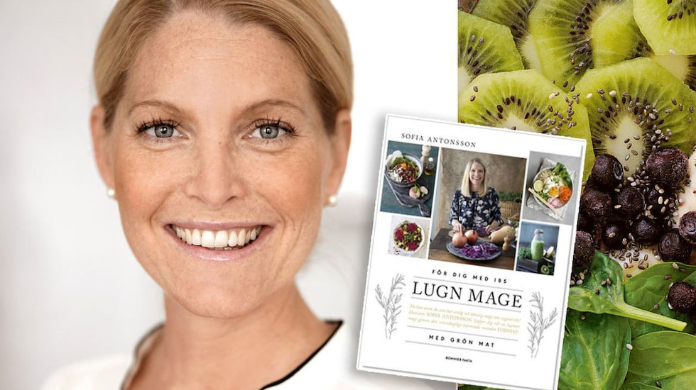 """Dietisten Sofia Antonsson har skrivit boken """"Lugn mage med grön mat""""."""