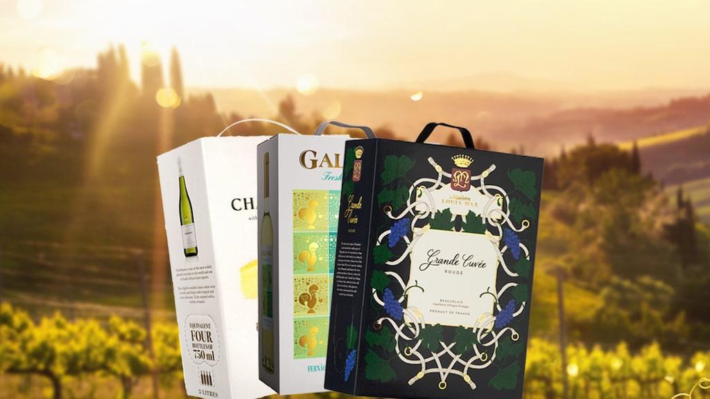 Experten tipsar om bra vinboxar på Systembolaget.