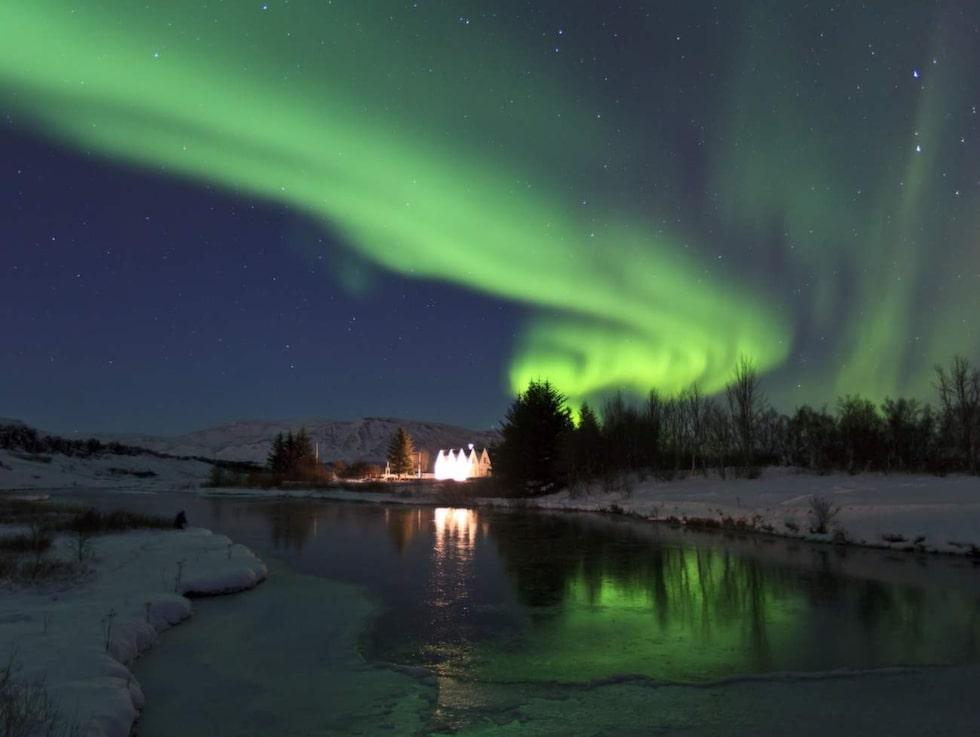 Världsarvet Þingvellir (Tingvalla), där bland annat Game of Thrones spelats in.